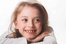 Free A Beautiful Blue-eyed, Blond Child Dressed In White. Stock Images - 1717434