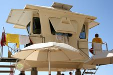 Free Lifeguard Station Stock Image - 1717651