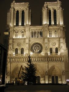 Free Notre Dame Front View Royalty Free Stock Images - 1718039