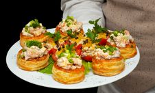 Free Tartlets With Salad On Dish Royalty Free Stock Images - 1719339