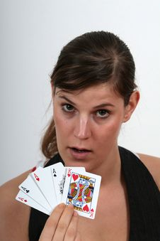 Free Playing Poker Royalty Free Stock Photo - 1719555