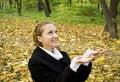 Free Happy Teen Girl In Autumn Park Stock Photo - 17102910