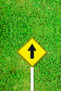 Free Go Ahead Traffic Sign On Grass Field Royalty Free Stock Image - 17105516