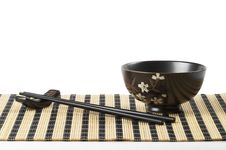 Free Bowl And Chopsticks Royalty Free Stock Photography - 17100397