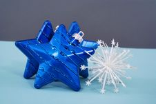 Free Collection Of Blue Decorations Royalty Free Stock Image - 17101206