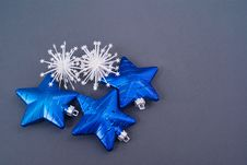 Free Collection Of Blue Decorations Royalty Free Stock Image - 17101216