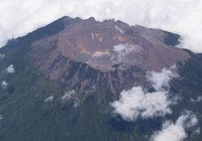 Free Volcano From Plane Stock Images - 17101794
