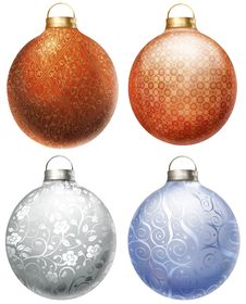 Free Christmas Balls Set Royalty Free Stock Images - 17103509