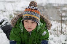 The Boy Lies On Snow