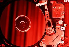 Free Opened Hard Disk Drive Royalty Free Stock Image - 17103936