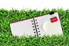 Free Blank Page On Grass Royalty Free Stock Image - 17104996