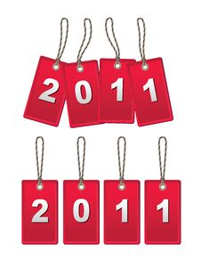Lebel-new Year Royalty Free Stock Images