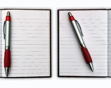 Free Blank NoteBook Open Stock Photo - 17106750