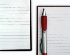 Free Blank NoteBook Open Stock Photography - 17106812