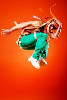 Free Professional Stunt Dancer Royalty Free Stock Photos - 17106998