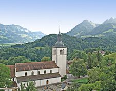 Free Church At Switzerland Royalty Free Stock Photography - 17107967