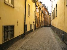 Old Street (Stockholm, Sweden) Royalty Free Stock Photos
