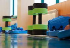 Equipment For Aqua Aerobics Stock Image