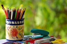 Free Colorful Pencils. Royalty Free Stock Photo - 17108295