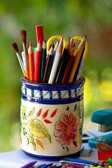 Free Colorful Pencils. Stock Images - 17108304