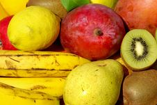 Free Colored Fruits . Royalty Free Stock Images - 17108469