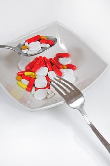 Pills, Tablets Stock Photography