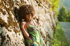 Free Girl Near Wall Stock Photo - 17108680