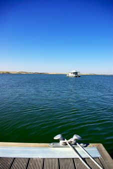 Free Boat In Alqueva Lake. Royalty Free Stock Photo - 17108835
