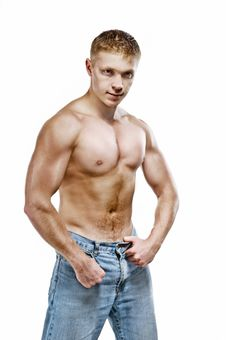Beautiful Male Body Royalty Free Stock Images