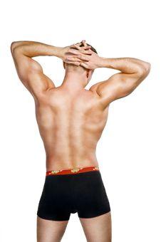 Free Shirtless Bodybuilder Posing Royalty Free Stock Photography - 17109047