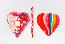 Free Candy Heart And Lollipop Stock Images - 17109314