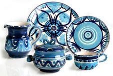 Free Blue Dish Royalty Free Stock Image - 17109446