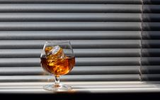 Free Whisky Glass Royalty Free Stock Photo - 17109875