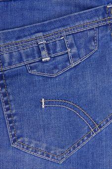 Jeans Textured Pocket Stock Photos