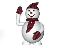 3d Snowman Royalty Free Stock Images