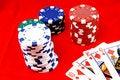 Free Poker Chips Royalty Free Stock Image - 17111906
