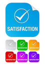 Free Satisfaction Check Mark,square Stickers Stock Photo - 17116650