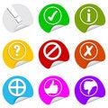 Free Sign Symbols, Round Stickers Stock Photo - 17116660