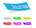 Free Solution, Stickers Royalty Free Stock Photo - 17117745