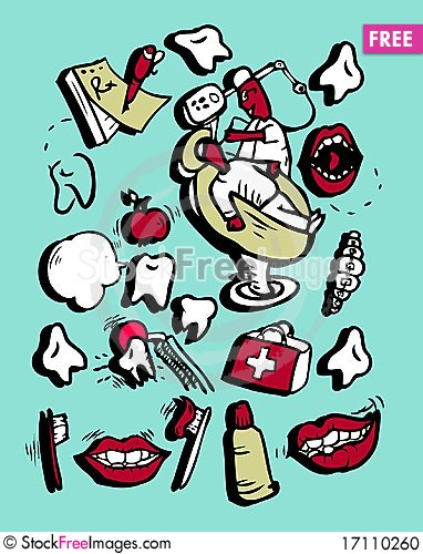 doodly style icon set medicine part 1 free stock images