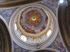 Dome Of Maltese Church Royalty Free Stock Image