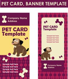 Pet Card Web Banner Template Stock Photography