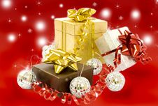 Free Christmas Gifts Royalty Free Stock Photo - 17110385