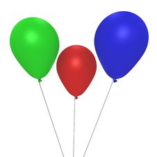 Free The RGB Helium Balloons - A 3d Image Royalty Free Stock Image - 17110436