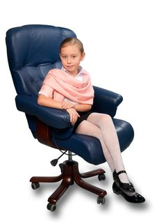 Attractive Little Girl Portrait Stock Images