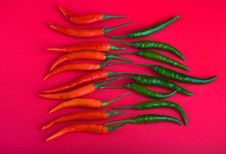 Red And Green Hot Chili Peppers Stock Photo