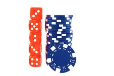 Free Blue Poker Chips Royalty Free Stock Photo - 17111925