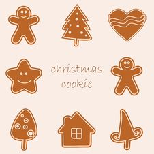 Free Christmas Cookies Royalty Free Stock Photos - 17112468