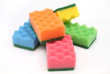 Free Sponges For Cleaning And Home Care Royalty Free Stock Photos - 17112858