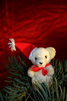 Free Christmas Teddy Royalty Free Stock Images - 17112979